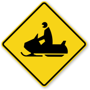Snowmobile Trail sign - Medford inn, Wi, motel, hotel